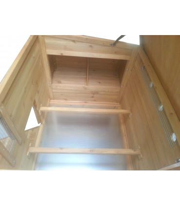 poulailler bois toit ouvrant vue intérieure