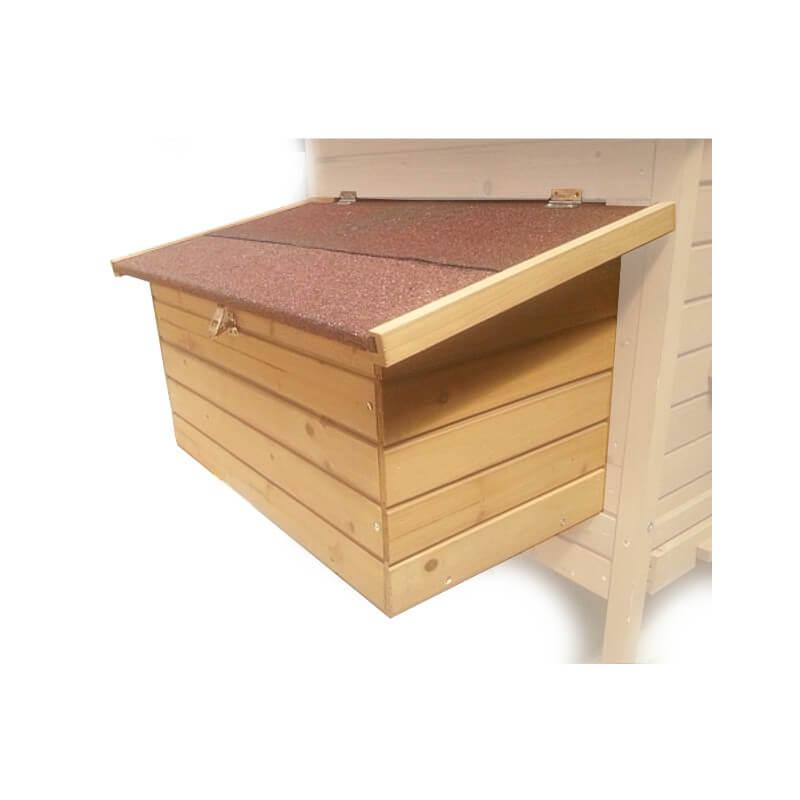 pondoir bois amovible avec 2 nids pour poulailler. Black Bedroom Furniture Sets. Home Design Ideas