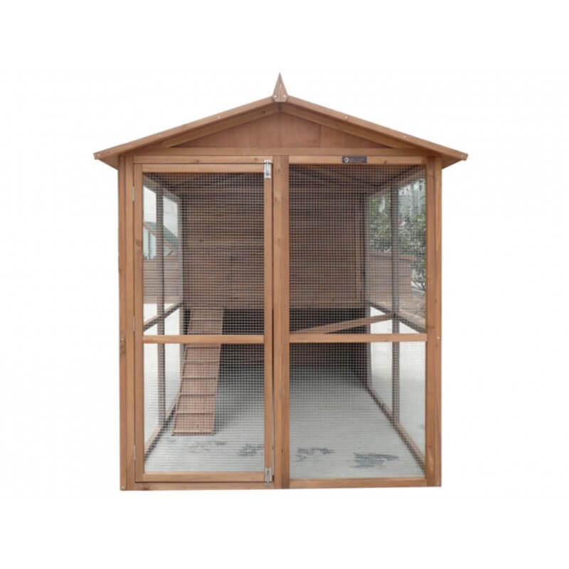 grand poulailler xl pour 12 15 poules bois plein solide livr en kit. Black Bedroom Furniture Sets. Home Design Ideas