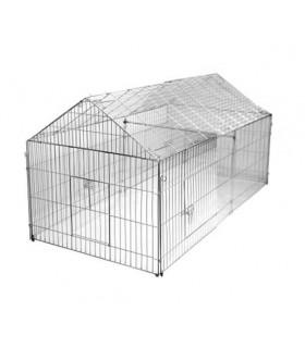enclos métal pour poules, poussins, lapines ou cochons d'inde