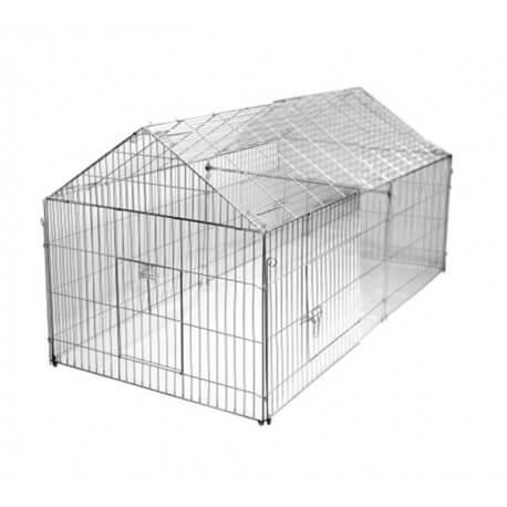 enclos m tal pour parquer poules et poussins. Black Bedroom Furniture Sets. Home Design Ideas