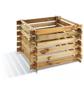 bas à compost en bois traité
