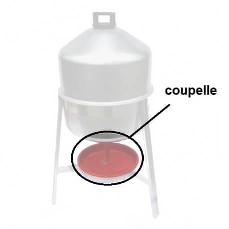 Coupelle rouge pour abreuvoir 30L galva