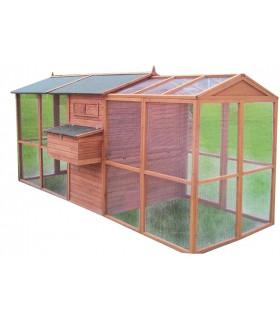 grand poulailler 8 12 poules poulailler design. Black Bedroom Furniture Sets. Home Design Ideas