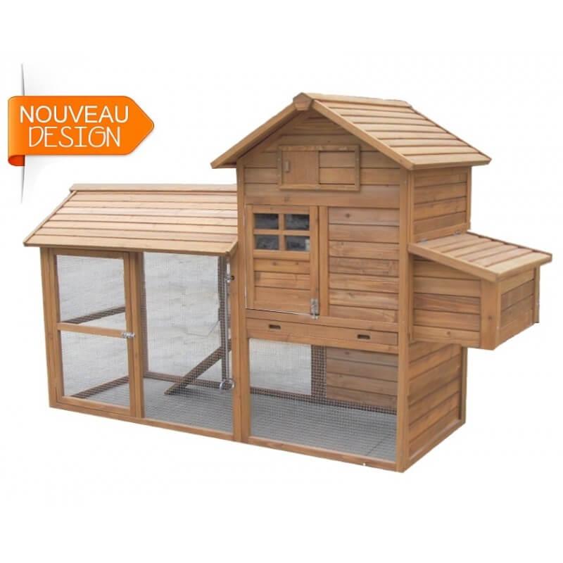 poulailler xl id al 6 poules avec enclos grillag. Black Bedroom Furniture Sets. Home Design Ideas