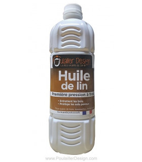 Protection naturelle du bois avec l'huile de lin