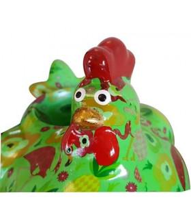 Cache-pot Poulette en céramique décorée
