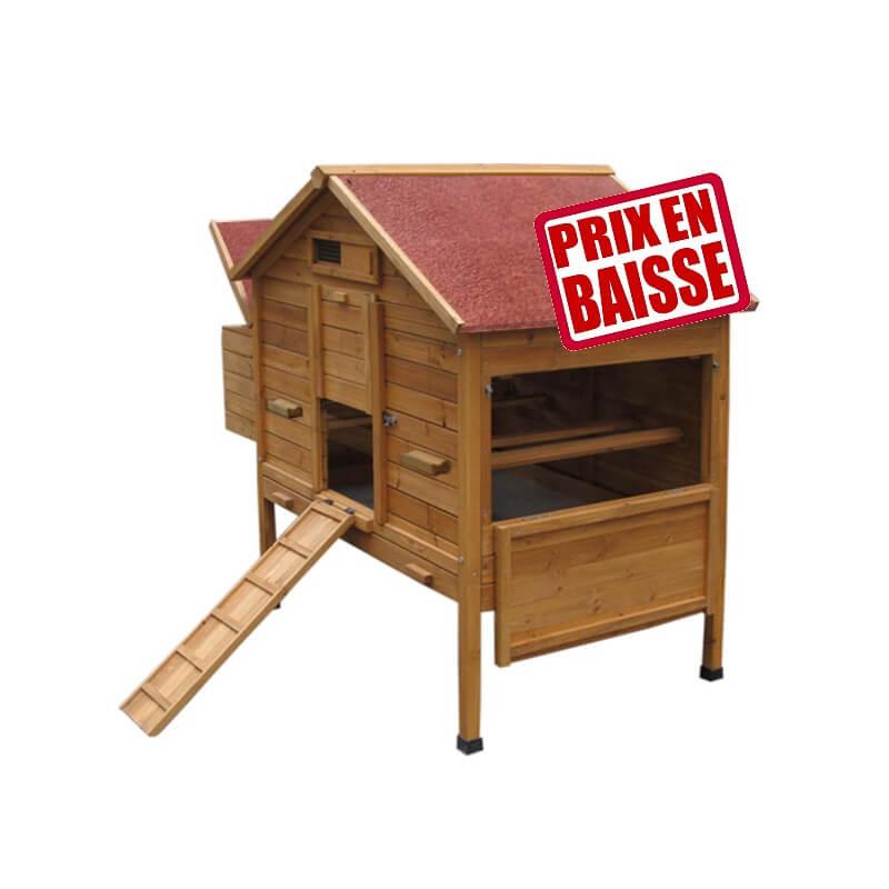poulailler bois sur pilotis toit bitum brique pondoir. Black Bedroom Furniture Sets. Home Design Ideas