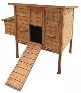 Poulailler bois mobile toit bitume ouvrant pour 4 à 8 poules