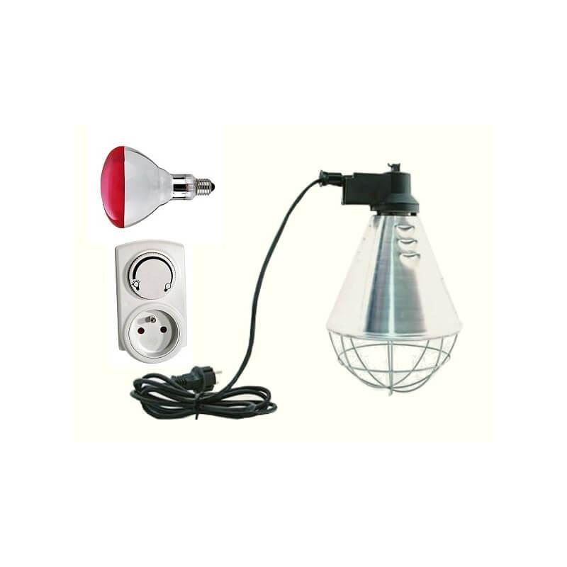 Kit Lampe Chauffante Equipee Pour Maintenir Les Poussins Au Chaud