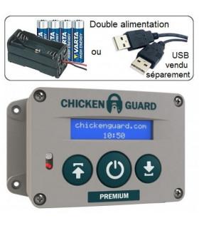ChickenGuard PREMIUM moteur de porte de poulailler piles et USB