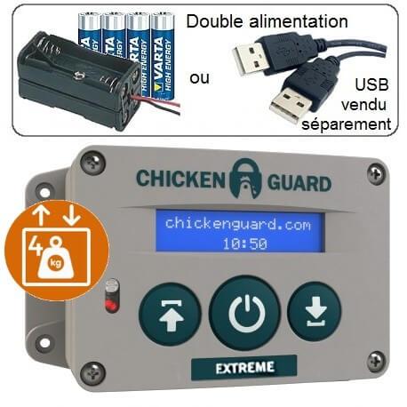 Chickenguard extreme portier électronique de poulailler puissant 4 kg