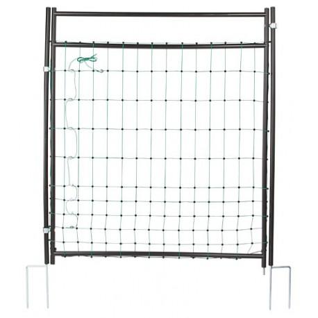 Porte pour enclos filet pour parquer les poules