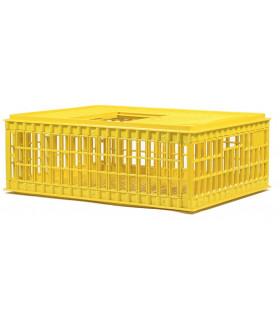 caisse transport de volailles avec trappe coulissante