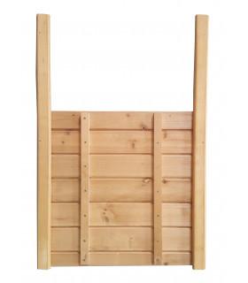 Porte guillotine en bois