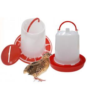 mangeoire plastique 1 kgs pour poussins et cailles