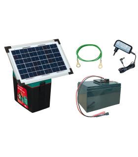 Electrificateur avec panneau solaire pour enclos à volailles