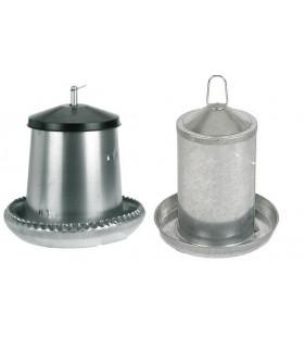 Kit cantine métal: Abreuvoir + mangeoire volailles