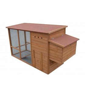 Poulailler Design avec enclos Hilary pour 3 poules, volière couverte