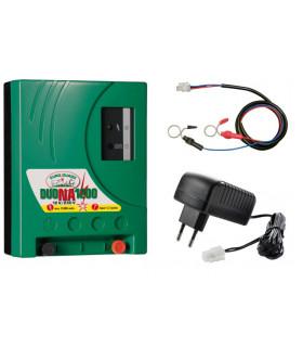 Electrificateur Mixte DUO NA1200 pour secteur et batterie pour électrifier jusqu' à 3 filets à volailles de 50m.