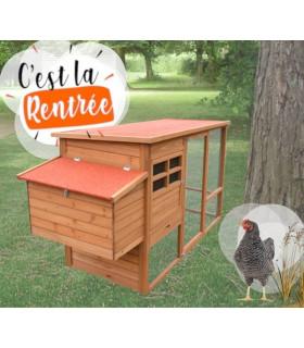 Poulailler Design avec enclos Hilary pour 4 poules, volière couverte