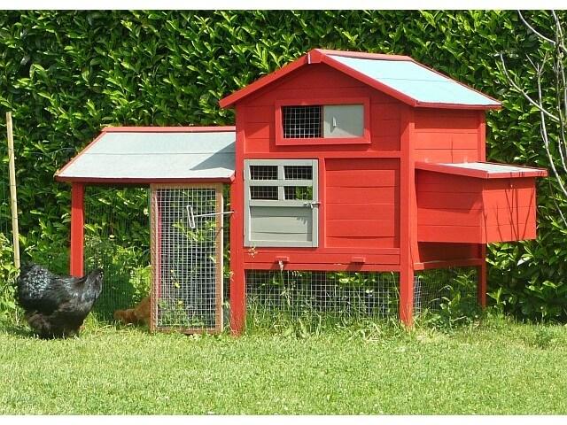 Poulailler bois en kit prix promo xl pour 5 6 poules - Poulailler en kit ...