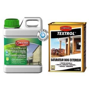 Kit full protect, 2 produits de protection du bois du poulailler