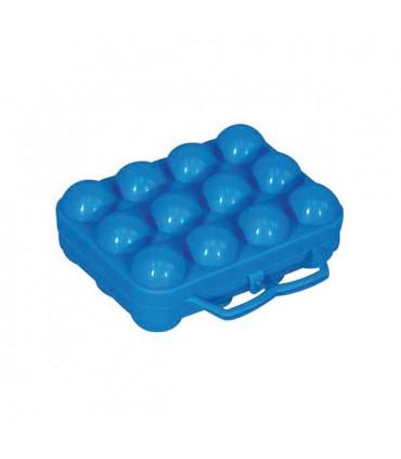 2 Boites plastique bleu x 12 Oeufs
