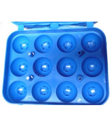 intérieur de la boite à eufs avec tetons de maintien