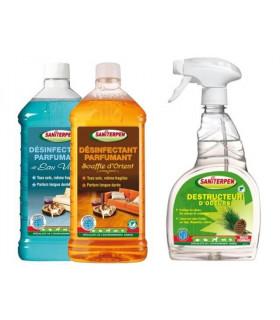Kit maison produits de nettoyage et désinfection des maison avec animaux