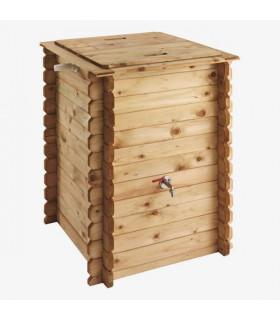 récupérateur d'eau en bois