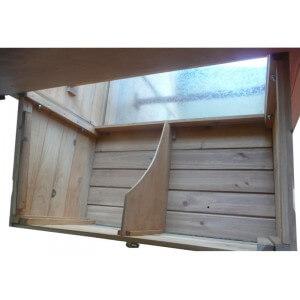 pondoir bois taille L 2 nids pour poulailler design