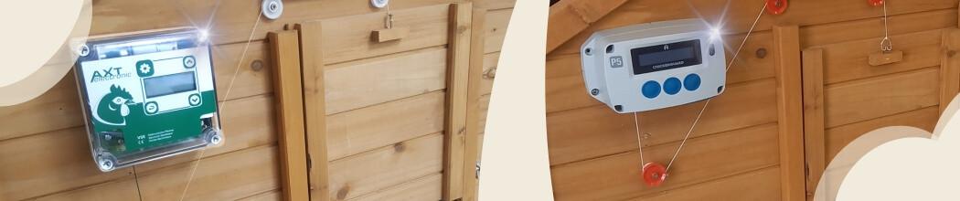 Portiers lectronique pour motorisation de porte de - Fermeture automatique porte poulailler ...