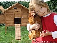 Poulailler enfant poule