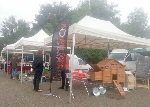Poulailler Design exposition en isere de poulaillers bois